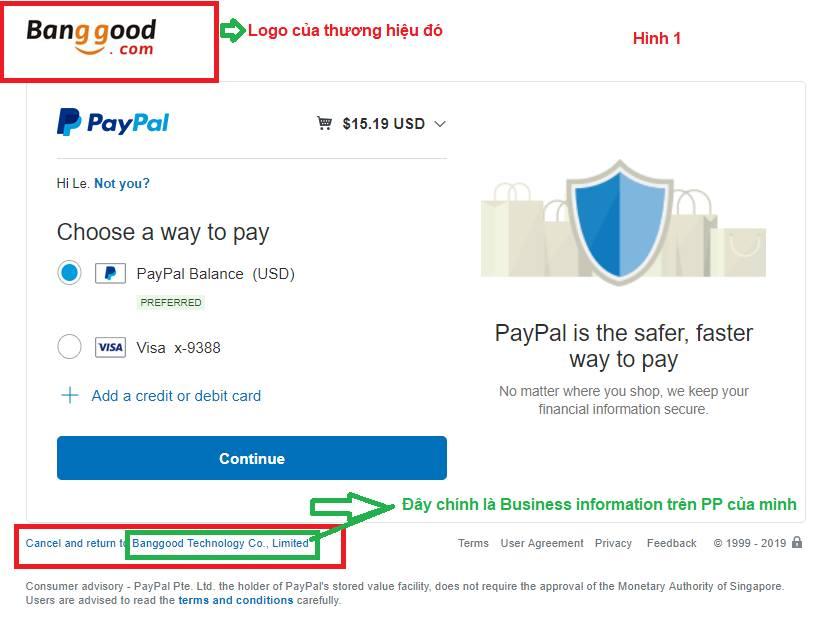 Thay đổi Business name trên tài khoản Paypal Indivadual