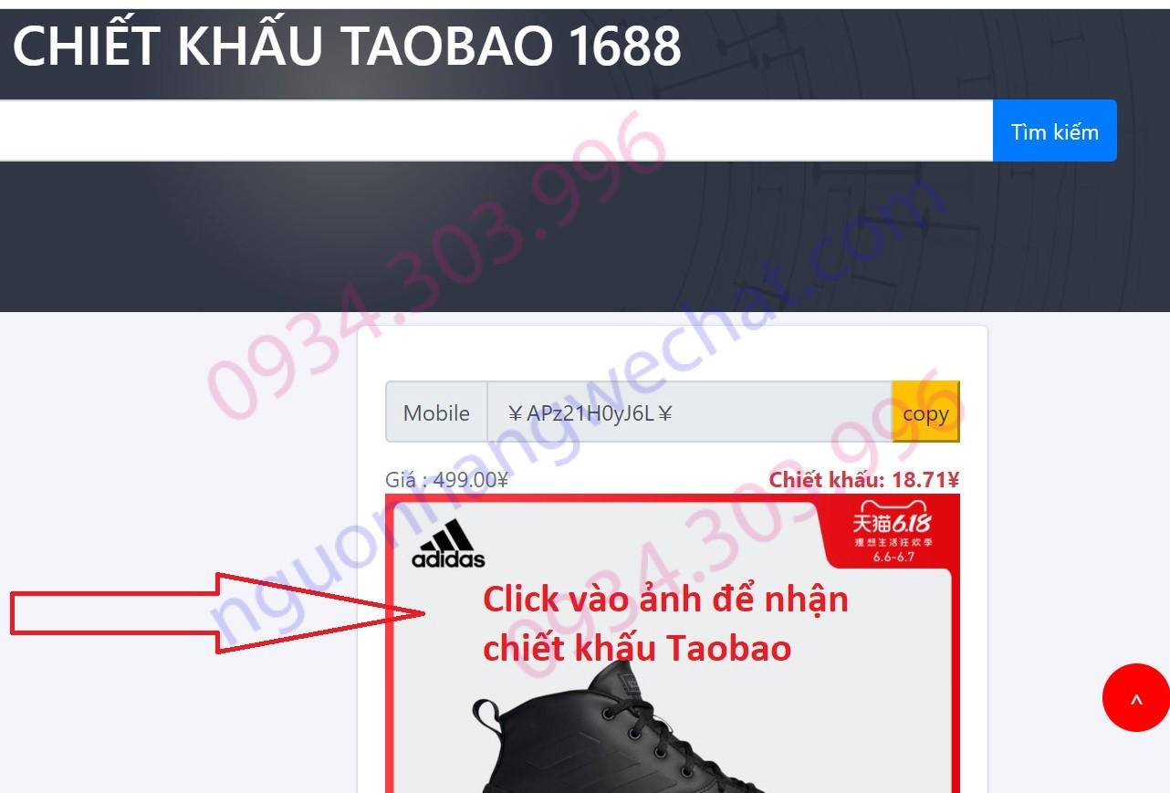 website xác nhận chiết khấu taobao nguonhangwechat