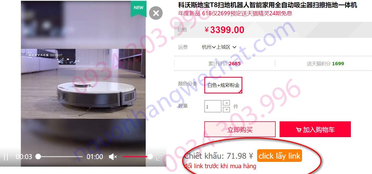 Sản phẩm có chiết khấu trên Taobao